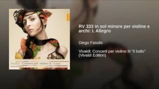 RV 333 in sol minore per violine e archi: I. Allegro