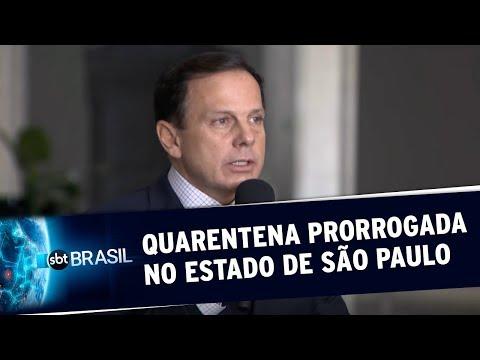 Governo de São Paulo prorroga quarentena no estado até 31 de maio | SBT Brasil (08/05/20)