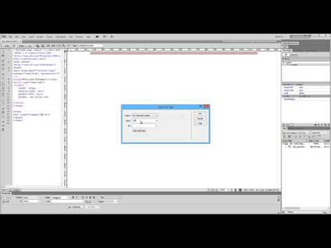 Using DreamWeaver to create DIV containers and add CSS Styles (Part 1 of 4)