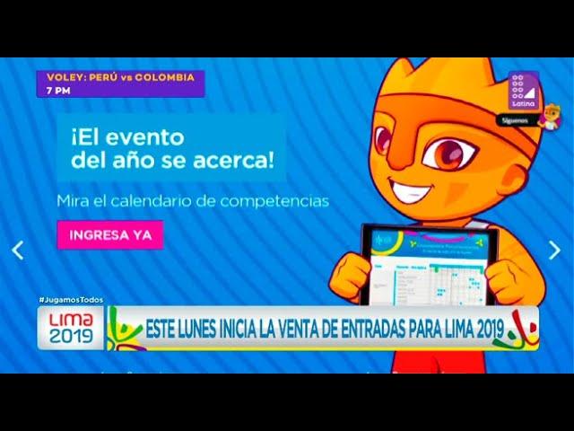 Calendario Juegos Panamericanos Lima 2019 Entradas.Este Lunes Inicia La Venta De Entradas Para Lima 2019 Latina