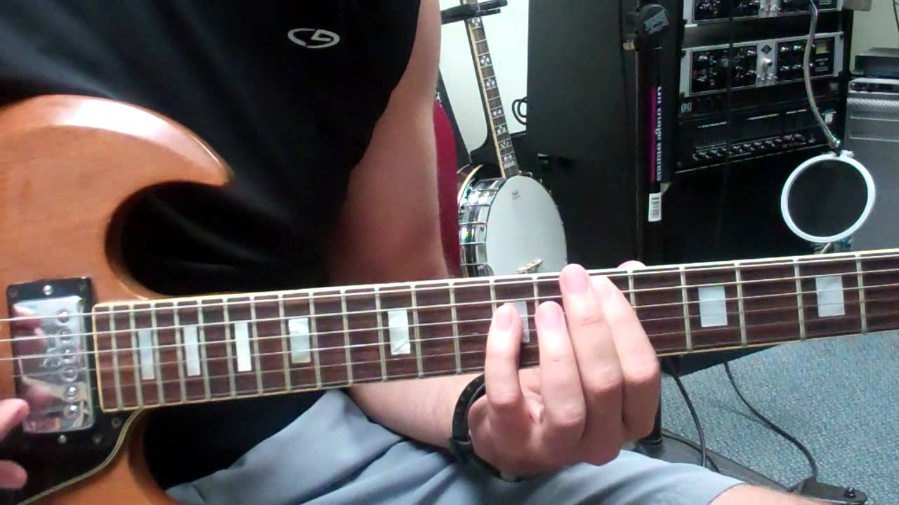 Guitar Lesson Demo Of The Pinky Power Chord In Style Of Hold On