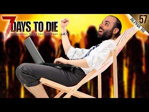 7 DAYS TO DIE A16 #57 | UNA HORDA MUY EASY | Gameplay Español