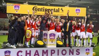 Arsenal Ladies celebrate Continental Cup success