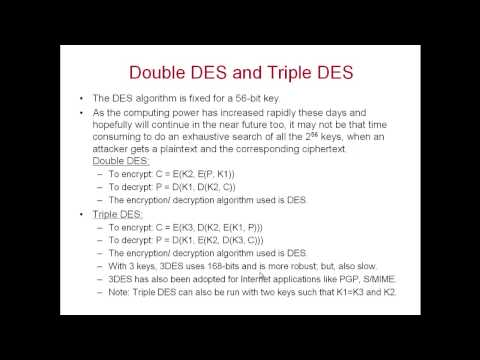 DES Decryption and Weaknesses of DES; S-Box Properties