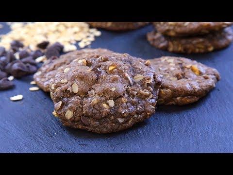 biscuits-chocolat,-avoine,-noix-de-coco-et-raisins-secs