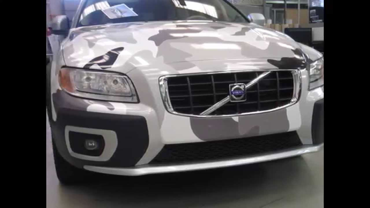 WRAPPING VOLVO CAMOUFLAGE - CARWASH TEST - YouTube