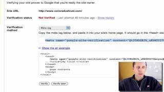 Verify Your WordPress Website in Google Webmaster Tools - Video
