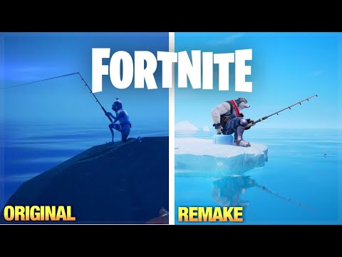 We Recreated The Going Ice Fishin' Trailer | Remaking Fortnite Trailers/Commercials Pt.3