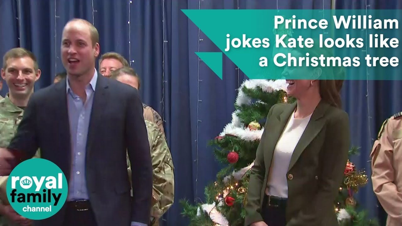 93c6b9aeb0d64 Prince William Teases Kate Middleton for Christmas Outfit
