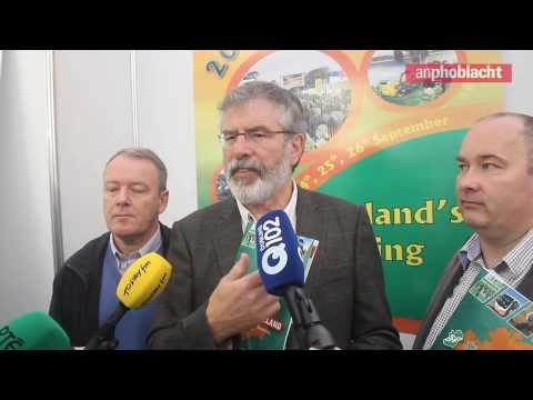 Gerry Adams 'Standing up for Rural Ireland' at National Ploughing Championships