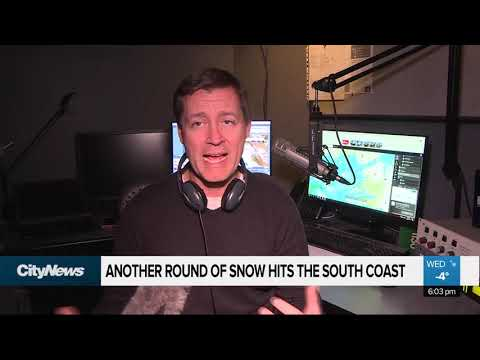 Another Round Of Snow Hits The South Coast