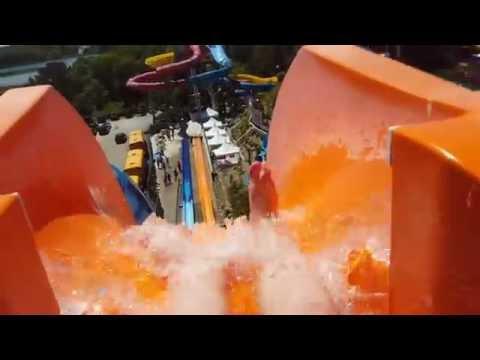 POV: Intense Orange Water Slide: Devil's Peak at Water Wizz, East Wareham, MA