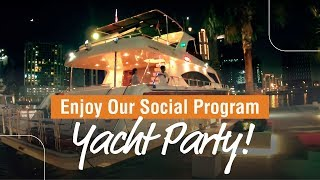 Our awesome yatch party in  Dubai