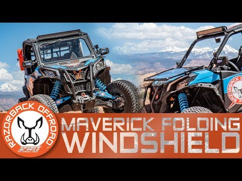 Can-Am Maverick Trail/Sport Front Folding Glass Windshield Moab Overview | Razorback Offroad™
