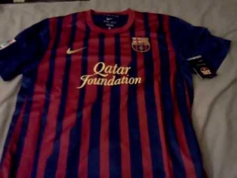 e7aa029e32e FC Barcelona home jersey 11-12 - YouTube