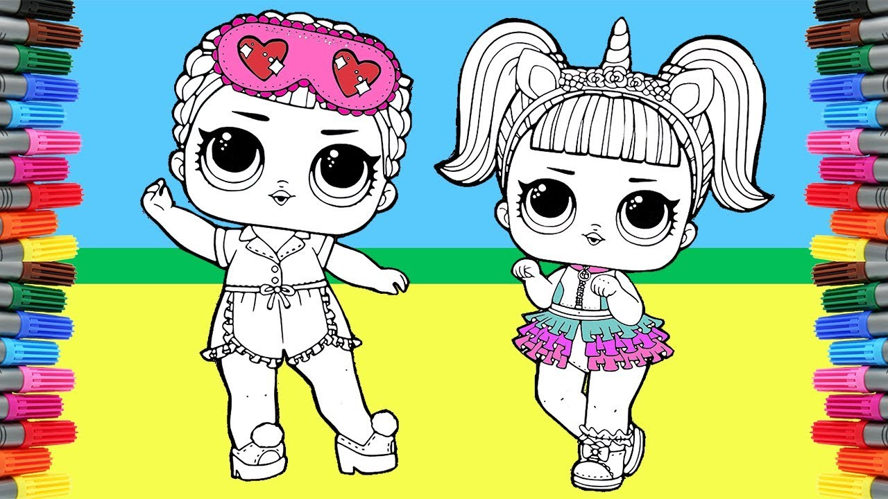 Lol Surprise Doll Coloring Pages Coloring Unicorn And Sleeping Bb