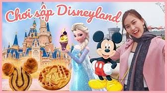 Ăn chơi gì ở DISNEYLAND Thượng Hải | Bánh waffle Mickey, Socola muối Elsa, tàu lượn dưới nước 🥶🎢