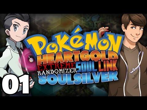 CHOOSE OUR STARTERS!   Pokemon HeartGold/SoulSilver Extreme Randomizer Soul Link Part 1!