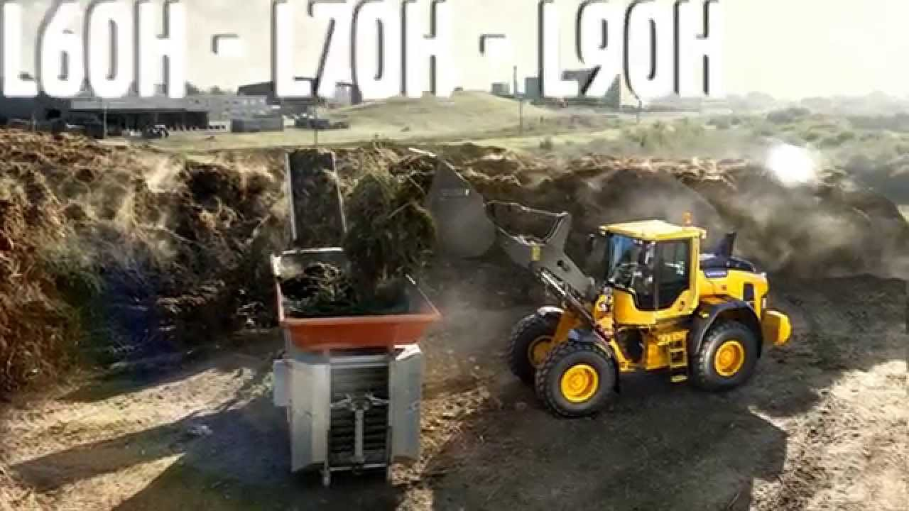 Volvo L60H, L70H, L90H wheel loaders promotional video - YouTube