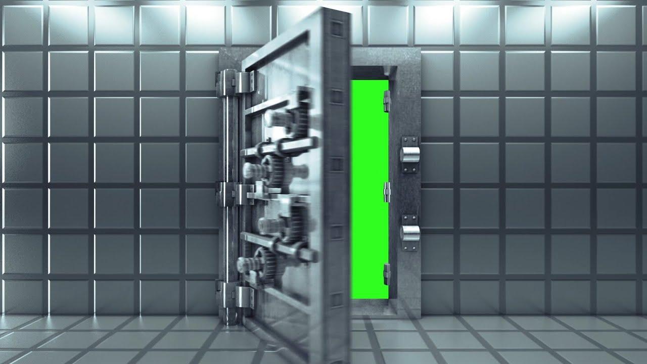Green Screen Door Vault Bank Intro - Footage PixelBoom
