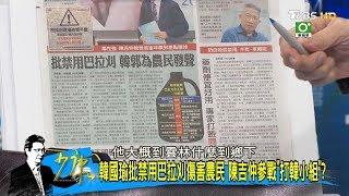 韓國瑜批禁用巴拉刈傷害農民 陳吉仲參戰