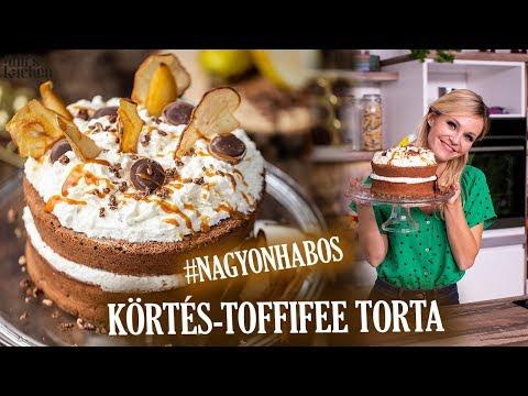 Körtekrémes-Toffifee Torta