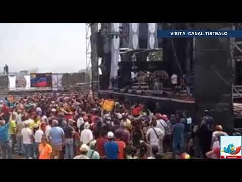 Inicia el 'contra concierto' organizado por Maduro