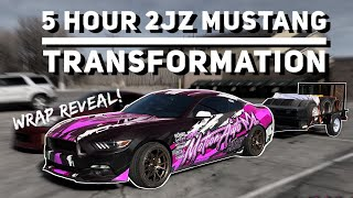 5-hour-2jz-mustang-transformation-new-wrap-reveal