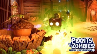 Twin Acorn vs Super Boss - Plants vs. Zombies Battle for Neighborville - Gameplay Part 47