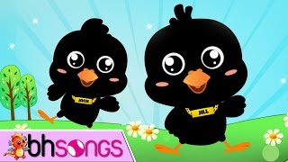 Two Little Blackbirds Sitting On A Hill | Nursery Rhymes Song [Video 4K]