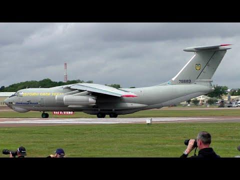 Ukrainian Air Force Ilyushin IL-76TD Departure At RIAT 2019