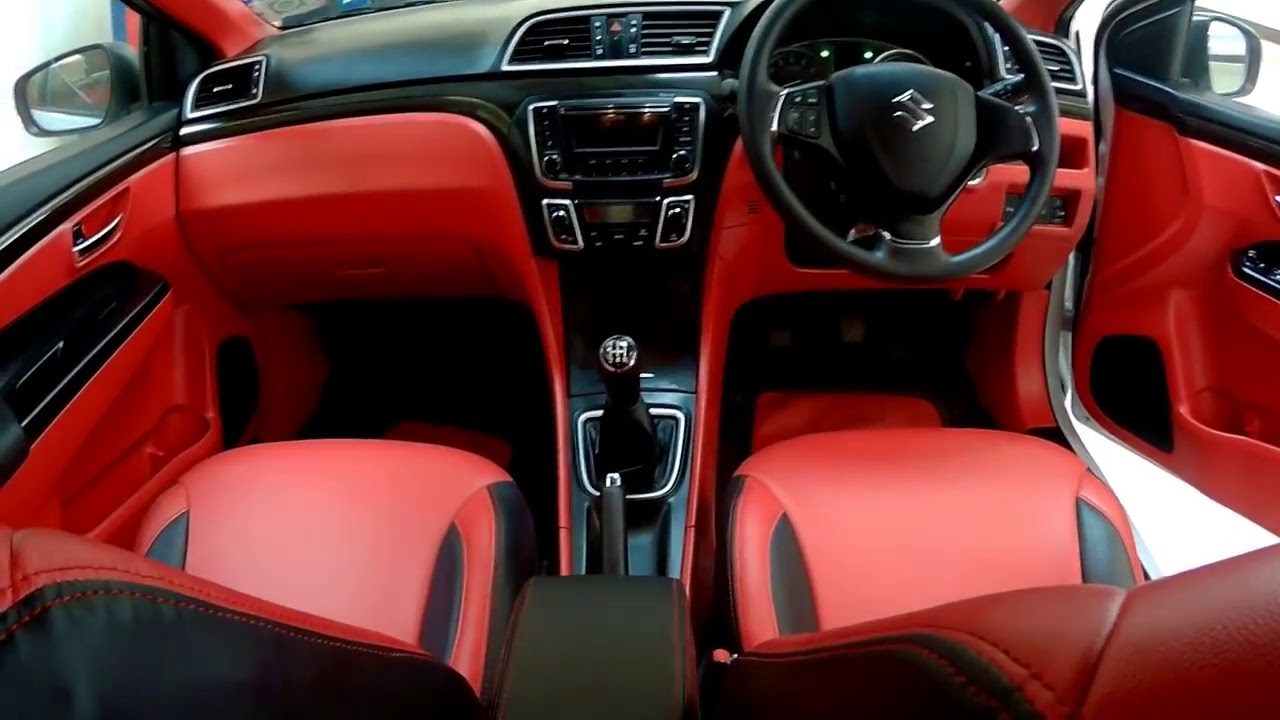 ciaz with red interior vinaykapoor youtube. Black Bedroom Furniture Sets. Home Design Ideas