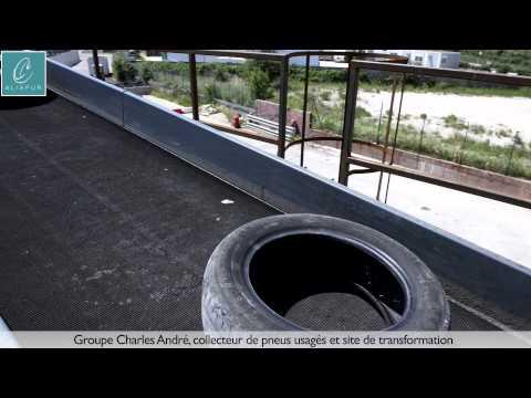 Aliapur - Groupe Charles Andre (CGA), collecteur de pneus usagés et site de transformation (2015)