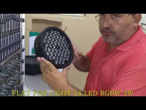 Refletor PAR 54 LED RGBW 3w LED FLAT PAR LIGHT Eu Gostei Muito