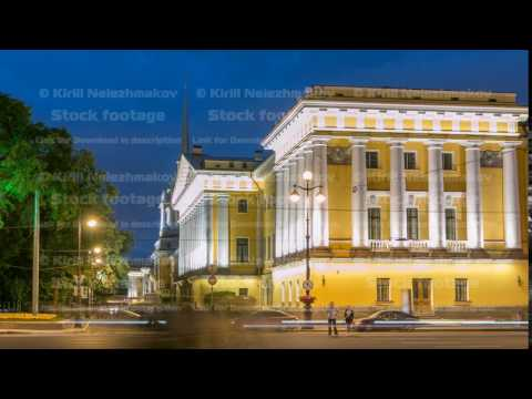 The Admiralty building timelapse. St. Petersburg, Russia