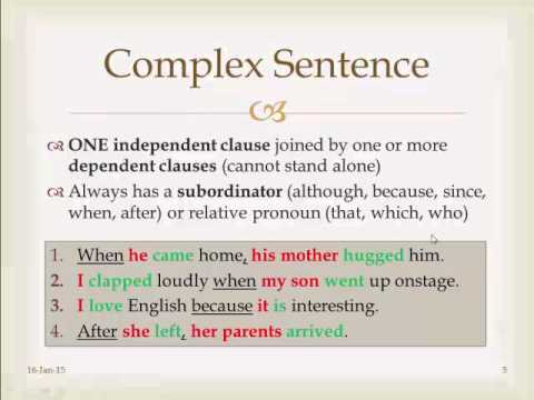 types of sentences simple compound complex compound complex