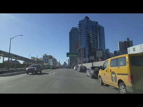 Driving from Woodside in Queens to Sutton Place in Manhattan,New York