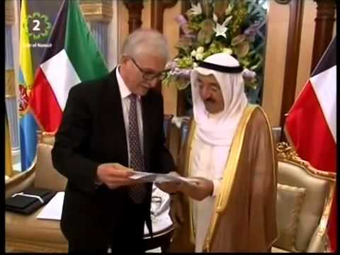 His Highness the Amir receives Dr Kazem Behbehani who was awarded the Order of the British Empire