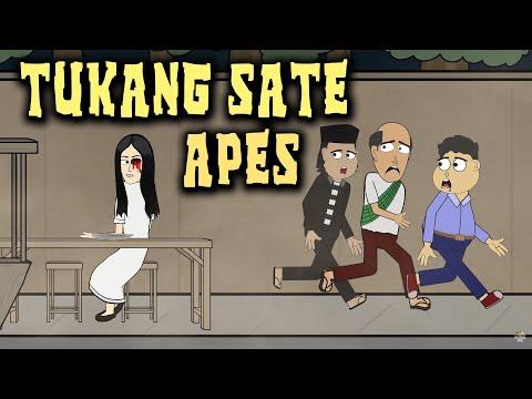 Tukang Sate Diganggu Hantu | Animasi Horor Kartun Lucu | Warganet Life