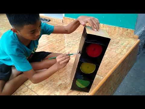 Cara membuat lampu lalulintas sederhana dan simple.