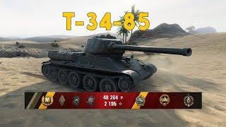 World of Tanks - T-34-85 - Sand River - Gameplay (PT-BR)