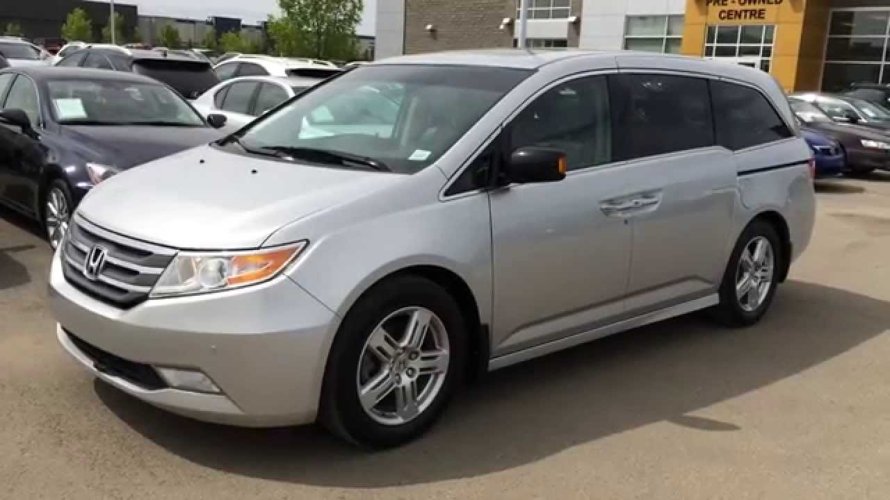 Pre owned silver 2011 honda odyssey minivan touring review st albert and area youtube