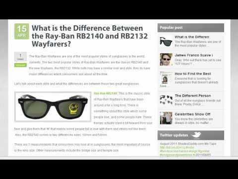 The Difference Between Ray-Ban Wayfarers RB2140 and RB2132