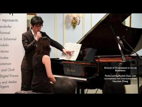 Haochen Zhang Master Class at Robert Lowrey Piano Experts