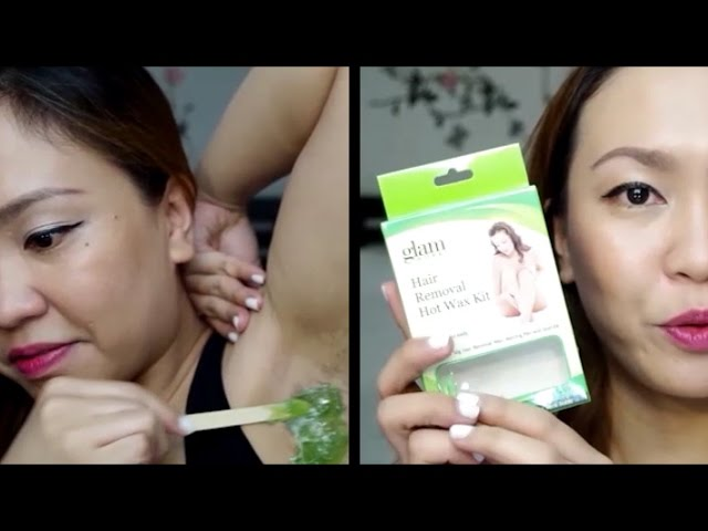 Glam Works Hair Removal Wax Kit First Impression Tagalog Youtube