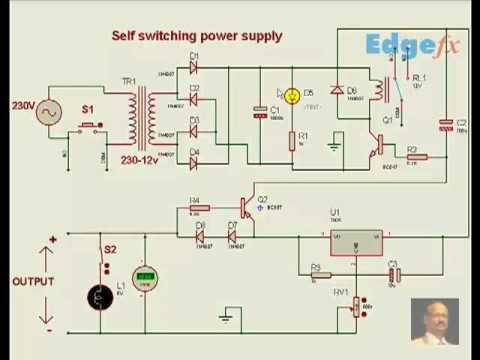 free circuit diagrams self switching power supply youtube rh youtube com