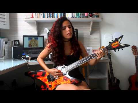 Iron Maiden - Aces High Guitar Cover w/ Solos (by Noelle dos Anjos)