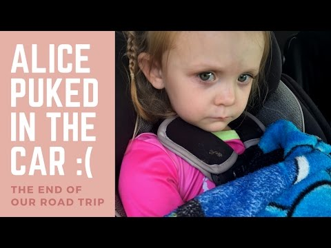 Alice Puked in the Car | Kid Gets Car Sick
