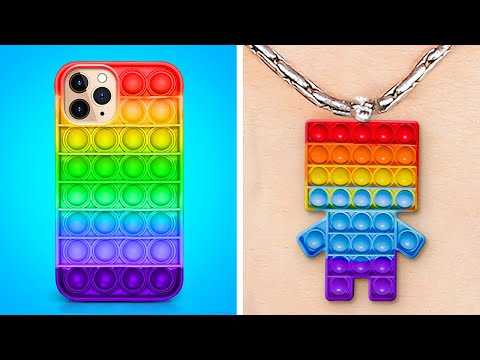 Cool And Colorful Parenting Crafts That Will Satisfy You || Rainbow POP IT, Slime And Kinetic Sand
