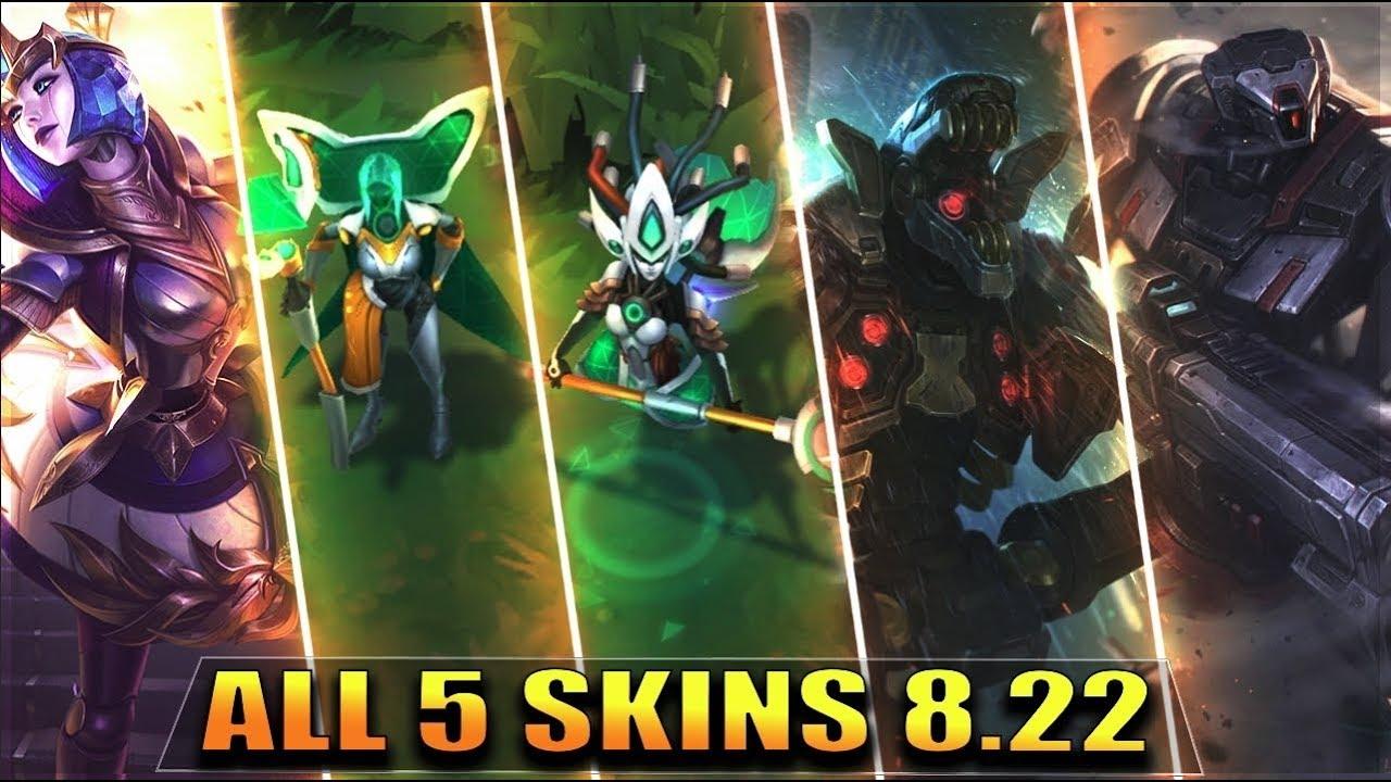 All 5 New Skins 822 Victorious Orianna Program Leblanc Nami